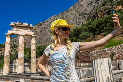 Delphi Tholos Stock Photo
