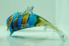 Delphin gemacht vom Glas lizenzfreie stockfotografie