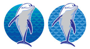 Delphin im Meer Lizenzfreie Stockbilder