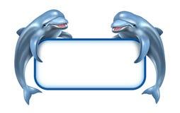 Delphin-Marine-Zeichen Stockfotos