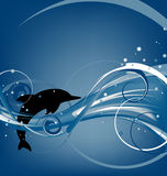 Delphin springen stock abbildung