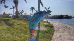 Delphin-Statue Stockbild