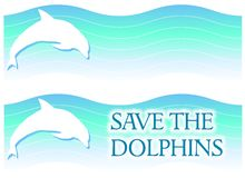 Delphin-Zeichen oder Fahnen Lizenzfreie Stockfotos