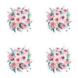 Delphinium rose de mauve de bleuets de beaux wildflowers sophistiqués de fines herbes colorés merveilleux élégants floraux tendre Photo stock