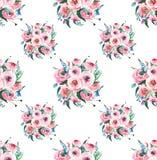 Delphinium rose de mauve de bleuets de wildflowers de fines herbes colorés merveilleux élégants floraux sophistiqués de ressort Photo libre de droits