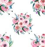 Delphinium rose de mauve de bleuets de wildflowers de fines herbes colorés merveilleux élégants floraux sophistiqués tendres de r Images stock