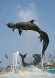 Delphinmonument Stockfoto