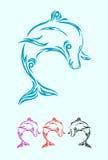 Delphinverzierung Vektor Abbildung
