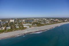 Delray Beach aéreo, la Florida Imagen de archivo