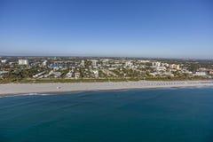 Delray Beach aéreo, la Florida Fotografía de archivo