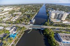 Delray Beach aéreo, la Florida Fotos de archivo libres de regalías