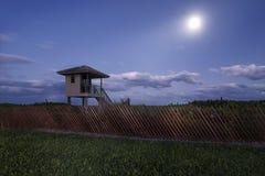Delray Beach la nuit Images libres de droits
