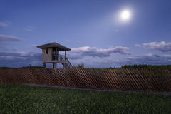 Delray Beach nachts Lizenzfreie Stockbilder