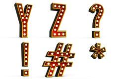 delset för 5 alfabet Arkivbilder