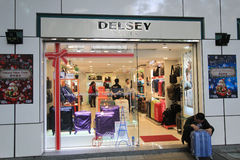 Delsey shop in hong kveekoong Stock Photography