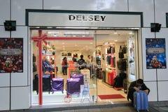 Delsey shoppar i hong kveekoong Arkivbild