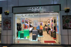 Delsey sklep w Hong kong Obrazy Stock