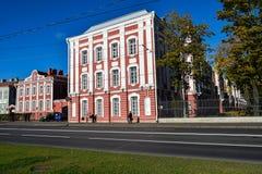 Delstatsuniversitet namngett A A Zhdanov i St Petersburg, Ryssland Fotografering för Bildbyråer