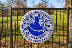 Delt błękitów wytwórnii win znak zdjęcie royalty free