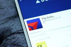 Delt linii lotniczych wisząca ozdoba app fotografia stock