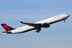 Delta Air Lines Airbus A330 airliner Royalty Free Stock Photo
