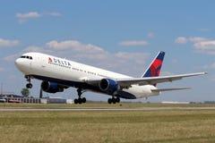 Delta Air Lines Boeing 767 Arkivfoton