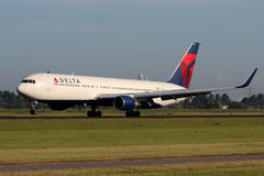Delta Air Lines Boeing 767 Photographie stock