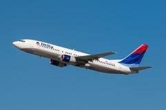 Delta Air Lines Boeing 737 Royalty-vrije Stock Afbeelding
