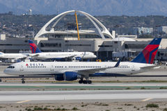 Delta Air Lines Boeing 757 airplane at Los Angeles International Airport Stock Image