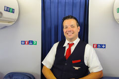 Delta Air Lines crew member Stock Photo