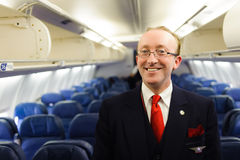 Delta Air Lines crew member Royalty Free Stock Photo