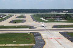Delta Airlines на ATL Стоковые Фотографии RF