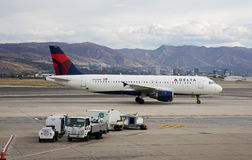 Delta Airlines, Airbus 320 Fotografia de Stock