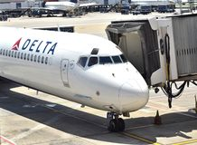 Delta Airlines at ATL Royalty Free Stock Photo