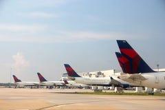 Delta Airlines at Atlanta International Airport. Delta Airlines at Atlanta Hartsfield-Jackson Airport Terminal Stock Photo