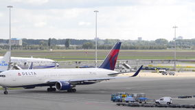 Delta Airlines Boeing 767 stock video