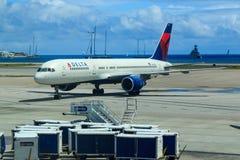 Delta Airlines Boeing 757 Arkivbild