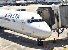 Delta Airlines en ATL Foto de archivo libre de regalías