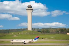 Delta Airlines erhöht Preise Stockfotografie