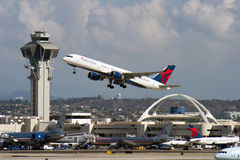 Delta Airlines jet taking off Royalty Free Stock Image