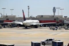 Delta Airlines på ATL Fotografering för Bildbyråer