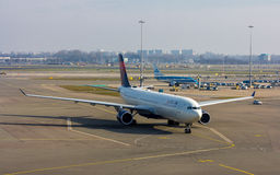 Delta Airlines passenger jet aircraft Stock Photo