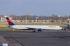 Delta Airlines 767 Royalty Free Stock Images