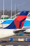 Delta Airlines svans Royaltyfri Fotografi