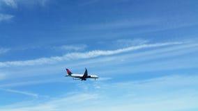 Delta Airlines-vliegtuig Stock Afbeeldingen
