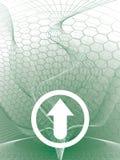 Delta arrow green Stock Photo