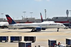 Delta B757 at ATL Stock Images