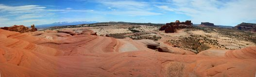 Delta basenu mesy blisko Moab, Utah zdjęcie stock