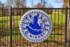 Delta Blues Winery Sign. The Delta Blues Winery opened in Lakeland, TN in February 2015 Royalty Free Stock Photo
