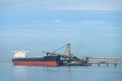 Delta Coal Port Freighter, British Columbia Stock Photo